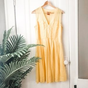 Tory Burch Yellow Cotton Silk Sundress *